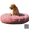 Snoozer Black Rain Floral Round Dog Bed