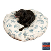Snoozer Blue Compass Polyester/Cotton Round Dog Bed