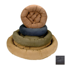 Snoozer Black Round Dog Bed