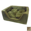Snoozer Shona Brown Sugar/Peat Microsuede Rectangular Dog Bed