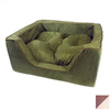 Snoozer Saddle/Butter Microsuede Rectangular Dog Bed