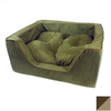 Snoozer Suki Pecan/Peat Microsuede Rectangular Dog Bed
