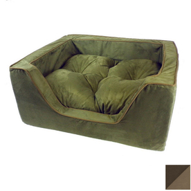 Snoozer Hot Fudge/Cafe Microsuede Rectangular Dog Bed