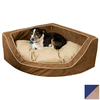 Snoozer Navy/Camel Microsuede Dog Bed