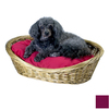 Snoozer Plum Polyester/Cotton Oval Dog Bed