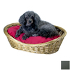 Snoozer Gray Polyester/Cotton Oval Dog Bed