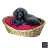 Snoozer Black Polyester/Cotton Oval Dog Bed