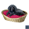 Snoozer Blue Plaid Polyester/Cotton Oval Dog Bed
