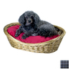 Snoozer Azure Plaid Polyester/Cotton Oval Dog Bed