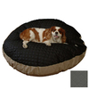 Snoozer Black Quilted/Khaki Polyester/Cotton Round Dog Bed