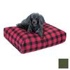 Snoozer Olive Polyester/Cotton Rectangular Dog Bed