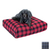 Snoozer Azure Plaid Polyester/Cotton Rectangular Dog Bed