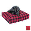Snoozer Red Polyester/Cotton Rectangular Dog Bed