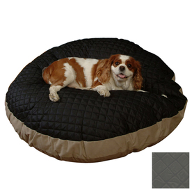 Snoozer Black Quilted/Khaki Polyester/Cotton Rectangular Dog Bed