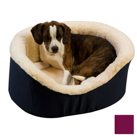 Snoozer Plum Poly Cotton Oval Dog Bed