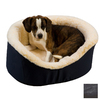 Snoozer Black Poly Cotton Oval Dog Bed