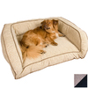 Snoozer Herringbone/Black Microsuede Rectangular Dog Bed