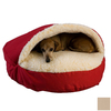 Snoozer Khaki Poly Cotton Round Dog Bed