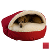Snoozer Red Poly Cotton Round Dog Bed