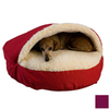 Snoozer Plum Poly Cotton Round Dog Bed