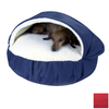 Snoozer Red Microsuede Round Dog Bed