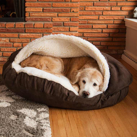 Snoozer Hot Fudge Microsuede Round Dog Bed 87493