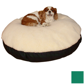 Snoozer Cream/Holly Polyester/Cotton Round Dog Bed