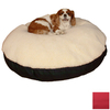 Snoozer Cream/Red Polyester/Cotton Round Dog Bed