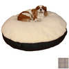 Snoozer Cream/Irish Cork Polyester/Cotton Round Dog Bed
