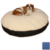 Snoozer Cream/Royal Blue Polyester/Cotton Round Dog Bed