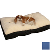 Snoozer Cream/Royal Blue Polyester/Cotton Rectangular Dog Bed