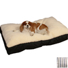 Snoozer Cream/Colonial Plaid Polyester/Cotton Rectangular Dog Bed