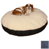 Snoozer Black/Navy Polyester/Cotton Round Dog Bed