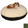 Snoozer Black/Olive Polyester/Cotton Round Dog Bed