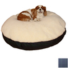 Snoozer Black/Blackwatch Plaid Polyester/Cotton Round Dog Bed