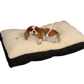 Snoozer Black/Seafoam Polyester/Cotton Rectangular Dog Bed
