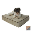 Snoozer Camel/Olive Microsuede Rectangular Dog Bed