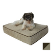 Snoozer Black/Herringbone Microsuede Rectangular Dog Bed