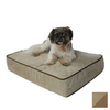 Snoozer Peat/Coffee Microsuede Rectangular Dog Bed