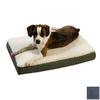 Snoozer Black/Navy Polyester/Cotton Rectangular Dog Bed