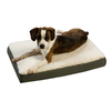Snoozer Black/Seafoam Polyester/Cotton Rectangular Dog Bed