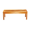 ACHLA Designs 15.75-in W x 48-in L Natural Oil Eucalyptus Patio Bench