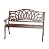 Best Selling Home Decor 26.77-in W x 48.42-in L Antique Brown Aluminum Patio Bench