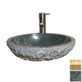 Natural Stone Kitchen Sinks : ... Kitchen and Bath Polished Abalone Natural Stone Oval Vessel Sink at