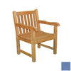 Jewels of Java English Garden Teak Patio Chair with Textured Blue Cushion