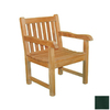 Jewels of Java English Garden Teak Patio Chair with Textured Green Cushion