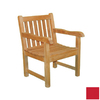 Jewels of Java English Garden Teak Patio Chair with Solid Red Cushion