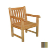 Jewels of Java English Garden Teak Patio Chair with Striped Cushion