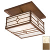 Steel Partners 20-in W Architectural Bronze Semi-Flush Mount Light