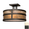 Steel Partners 18-in W Old Iron Semi-Flush Mount Light